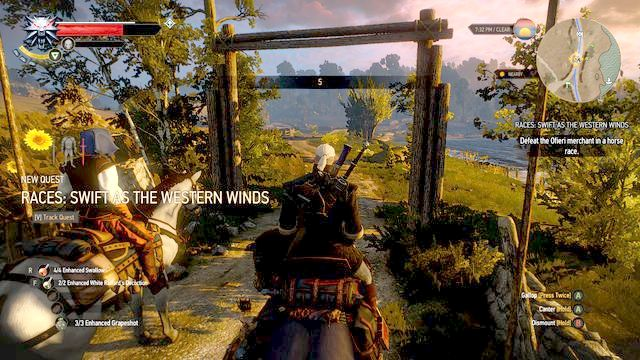 You can participate in the race since the first meeting with the Ofiery merchant - Ofieri gear set - Gear Sets - The Witcher 3: Wild Hunt Game Guide & Walkthrough