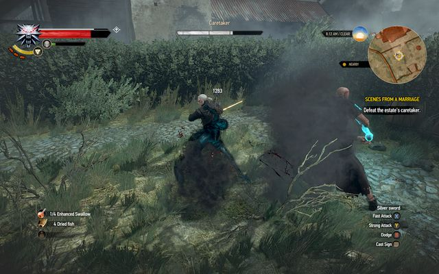 When you take about 1/3 of his health and later after you take half of it, the enemy will summon ghosts of the dead - Scenes From a Marriage - Main quests - The Witcher 3: Wild Hunt Game Guide & Walkthrough