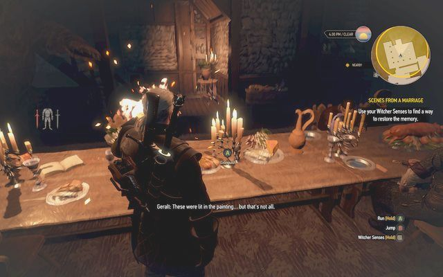 Light the candles on the table, but only two of them - Scenes From a Marriage - Main quests - The Witcher 3: Wild Hunt Game Guide & Walkthrough