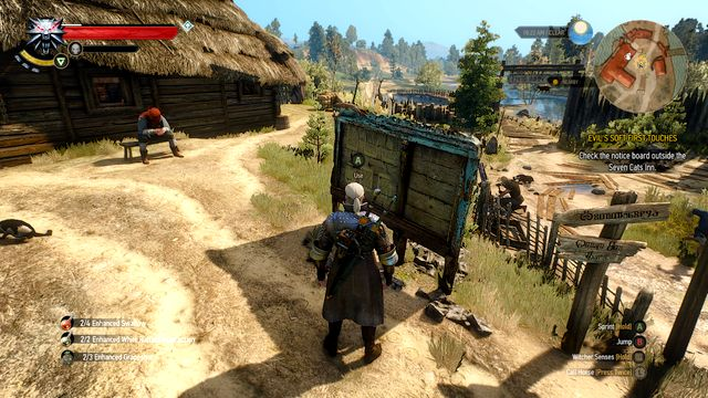 Notice board near the Seven Cats Inn - Evils Soft First Touches - Main quests - The Witcher 3: Wild Hunt Game Guide & Walkthrough