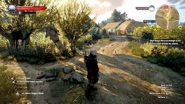 Wait till the midnight in the marked location - Evils Soft First Touches - Main quests - The Witcher 3: Wild Hunt Game Guide & Walkthrough