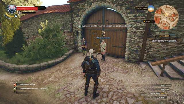 The gate to Juniors hideout - Get Junior - main quest - Free City of Novigrad - The Witcher 3: Wild Hunt Game Guide & Walkthrough