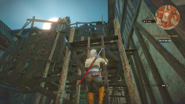 By using the ladder you will reach the roof - Get Junior - main quest - Free City of Novigrad - The Witcher 3: Wild Hunt Game Guide & Walkthrough