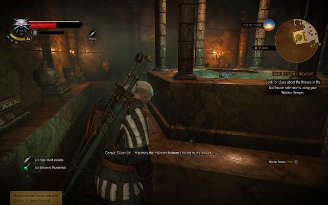 Check the second bath while searching for clues - Count Reuven Treasure - main quest - Free City of Novigrad - The Witcher 3: Wild Hunt Game Guide & Walkthrough