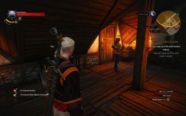 Walk outside through the door to avoid fighting guards - Count Reuven Treasure - main quest - Free City of Novigrad - The Witcher 3: Wild Hunt Game Guide & Walkthrough