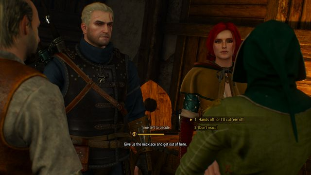 Help Triss or let her give up the necklace - Now or Never - side quest - Free City of Novigrad - The Witcher 3: Wild Hunt Game Guide & Walkthrough