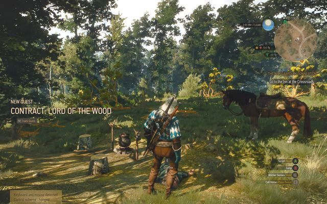 The camp with a dead dwarf - this is where you start the quest - Witcher contracts in Farcorners - Farcorners - The Witcher 3: Wild Hunt Game Guide & Walkthrough