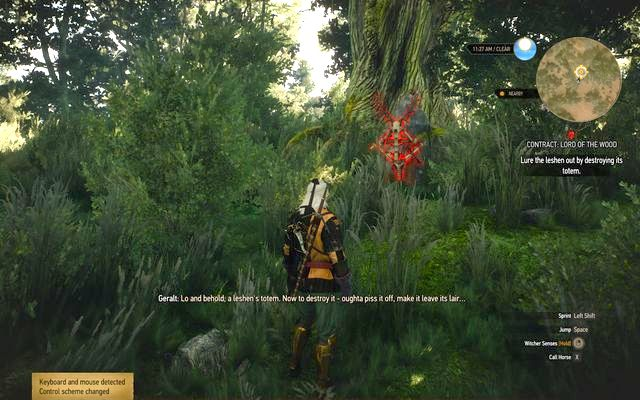 Leszen totem in the forest - Witcher contracts in Farcorners - Farcorners - The Witcher 3: Wild Hunt Game Guide & Walkthrough
