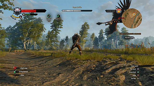 Avoid griffins air attacks - How to kill the griffin met at the beginning of Witcher 3? - Frequently Asked Questions (FAQ) - The Witcher 3: Wild Hunt Game Guide & Walkthrough