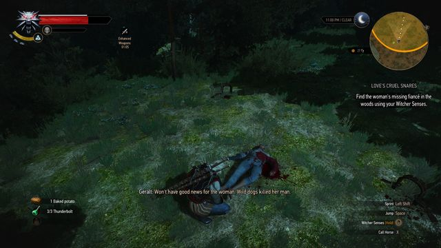 The fianc� has been killed by a group of wild dogs which you will have to kill - Side quests in Midcopse - Midcopse - The Witcher 3: Wild Hunt Game Guide & Walkthrough