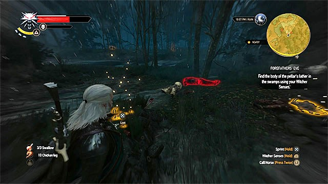 The place where you find the corpse - Side quests in Midcopse - Midcopse - The Witcher 3: Wild Hunt Game Guide & Walkthrough