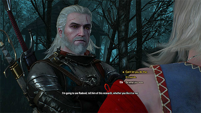 During the meeting with Keira near the tower you must pick your dialogue options carefully - Side quests in Midcopse - Midcopse - The Witcher 3: Wild Hunt Game Guide & Walkthrough