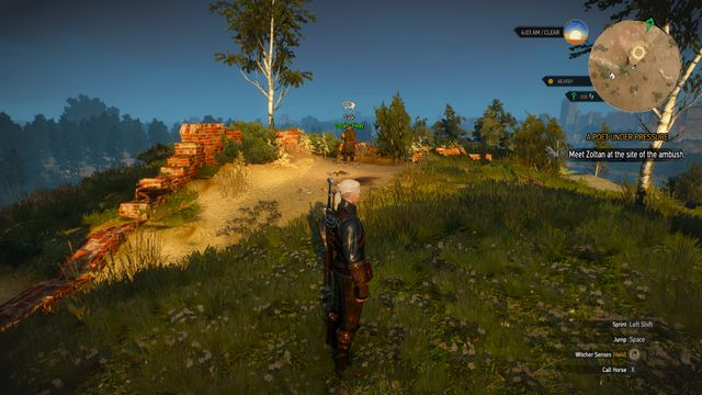 Meeting with Zoltan at the hill - A Poet Under Pressure - main quest - Free City of Novigrad - The Witcher 3: Wild Hunt Game Guide & Walkthrough