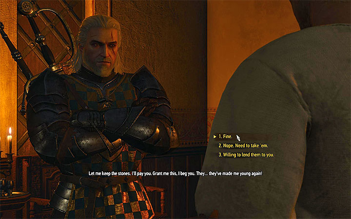 The moment when you choose how to act during the meeting with Hughes - Smaller quests - Side quests - The Witcher 3: Blood and Wine Game Guide