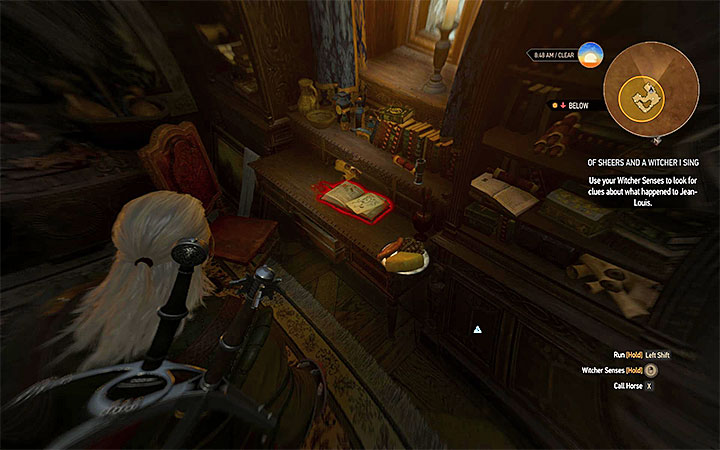 Walk towards the door leading to the barber shop and break them with Aard sign - Smaller quests - Side quests - The Witcher 3: Blood and Wine Game Guide