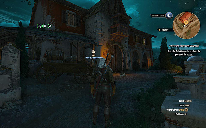 The Tufo Vineyard is located near the Flovive village - Contract: The Tufo Monster - shaelmaar contract - Witcher contracts and Treasure hunts quests - The Witcher 3: Blood and Wine Game Guide