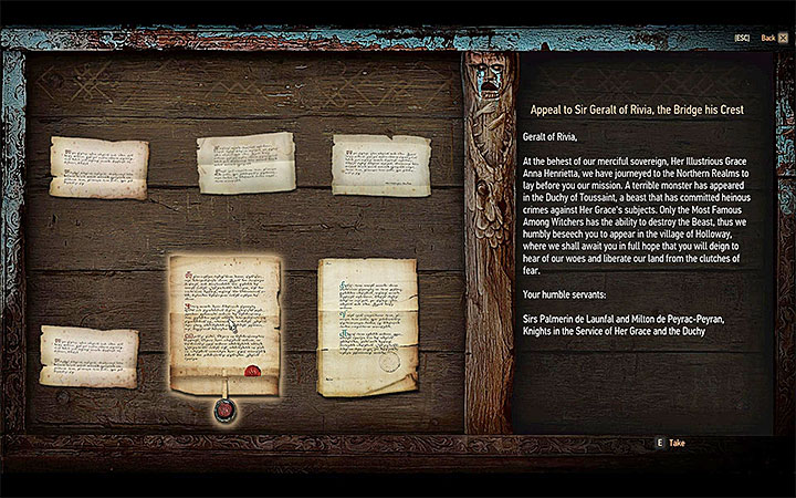 The quest Envoys, Wineboys is closely associated with your journey to Toussaint, it should be automatically included in the journal after you have fulfilled all the requirements listed above - How and when to begin the Blood and Wine expansion? - Basic information - The Witcher 3: Blood and Wine Game Guide
