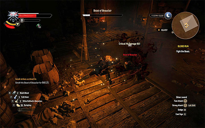 Keep moving and rely on Quen - Blood Run - Main quests - The Witcher 3: Blood and Wine Game Guide