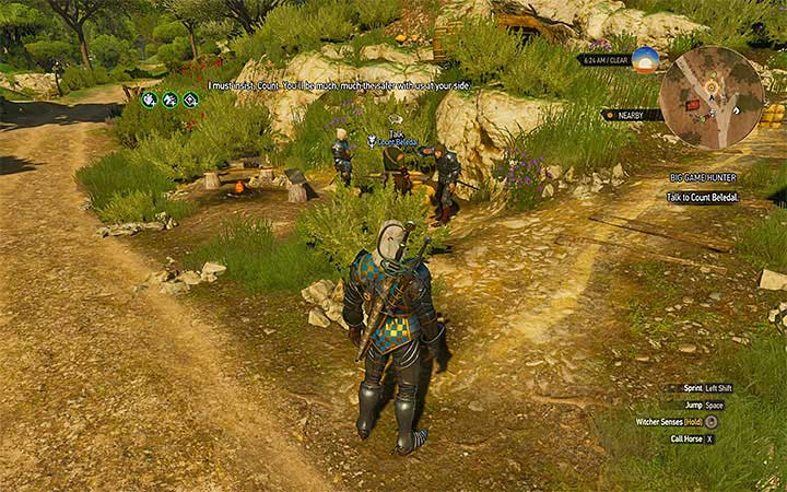The count can be found near the Chuchote Cave - Big Game Hunter - Count Beledals contract - Witcher contracts and Treasure hunts quests - The Witcher 3: Blood and Wine Game Guide
