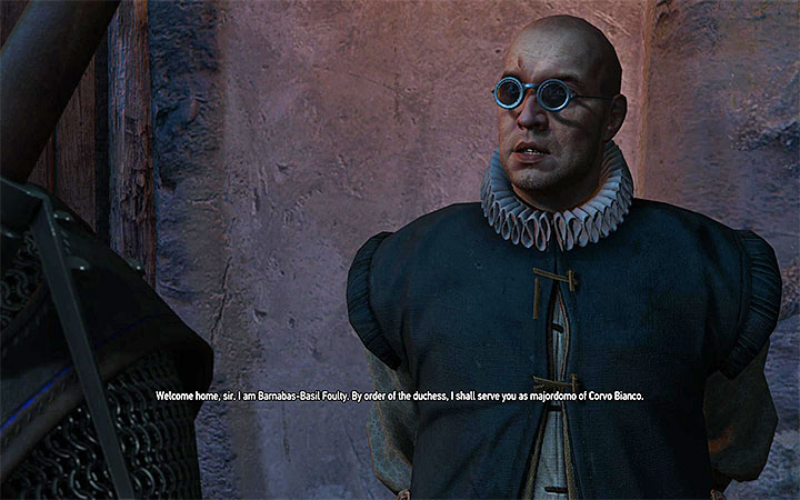 Meet with the majordomo - Corvo Bianco - Geralts mansions expansion quest - Side quests - The Witcher 3: Blood and Wine Game Guide