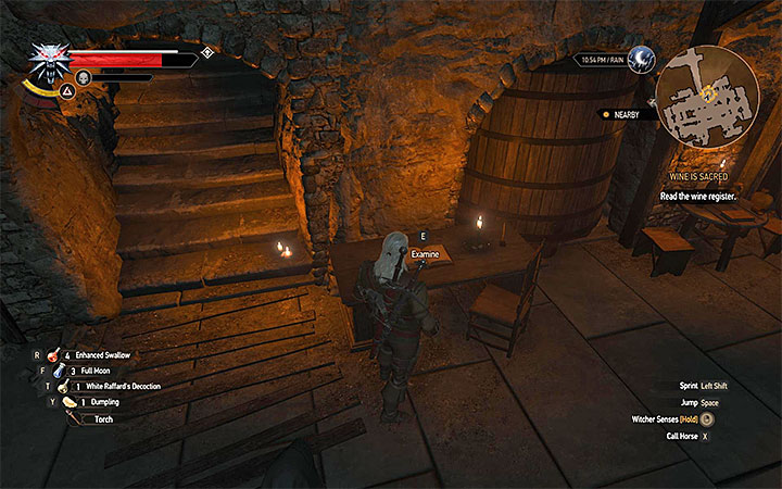This is where you find the register - Wine is Sacred - Main quests - The Witcher 3: Blood and Wine Game Guide
