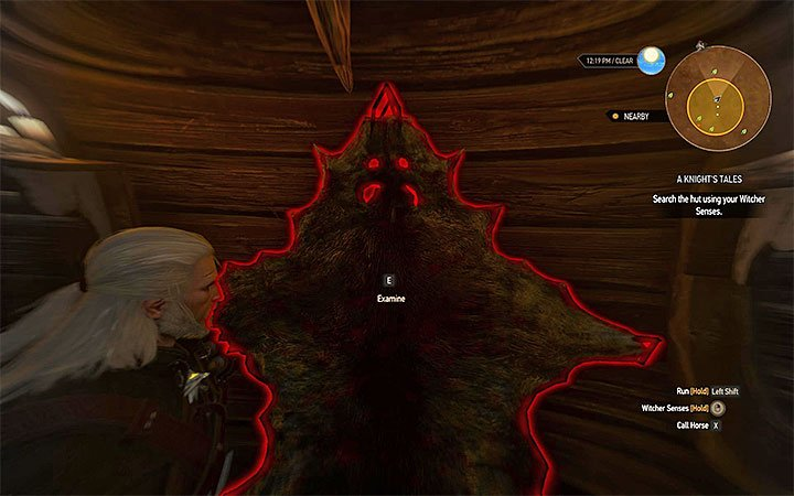 Enter the hut and activate witcher senses - A Knights Tales - quest of a girl turned into a tree - Side quests - The Witcher 3: Blood and Wine Game Guide