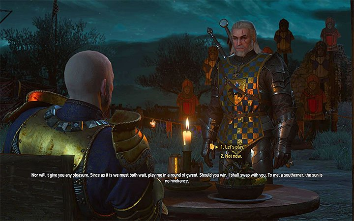 Playing gwent with Palmerin is optional. Even if you win, you will make the first competition only slightly easier - The Warble of a Smitten Knight - tourney quest - Side quests - The Witcher 3: Blood and Wine Game Guide