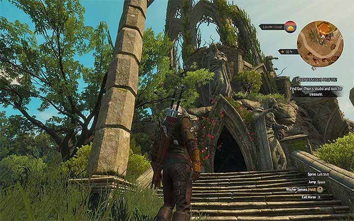 Entrance to the studio - Locations and descriptions of all treasure hunts - Witcher contracts and Treasure hunts quests - The Witcher 3: Blood and Wine Game Guide