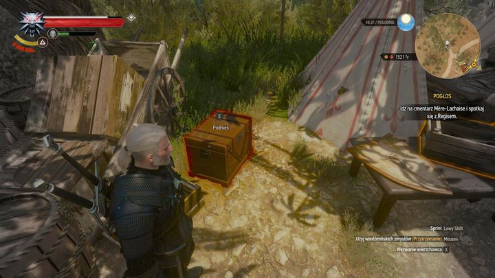 In the crate, there is a key and a report. - Locations and descriptions of all treasure hunts - Witcher contracts and Treasure hunts quests - The Witcher 3: Blood and Wine Game Guide
