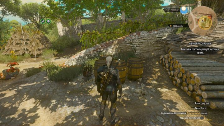Destroy the barrels to find the locker. - Locations and descriptions of all treasure hunts - Witcher contracts and Treasure hunts quests - The Witcher 3: Blood and Wine Game Guide