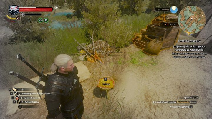 from the stool, collect a note and a key. - Locations and descriptions of all treasure hunts - Witcher contracts and Treasure hunts quests - The Witcher 3: Blood and Wine Game Guide