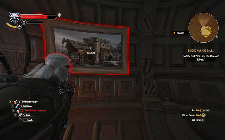 This time you must take interest in the large painting hanged on the wall and shown on the above picture - The Night of Long Fangs - quest about the vampire attack on the city - Main quests - The Witcher 3: Blood and Wine Game Guide