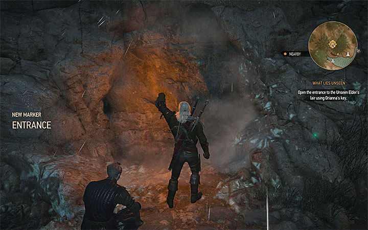 The lair of the unseen Elder is a cave located at the lake southwest from Beauclair (M4,20) - What Lies Unseen - meeting with the Unseen Elder quest - Main quests - The Witcher 3: Blood and Wine Game Guide