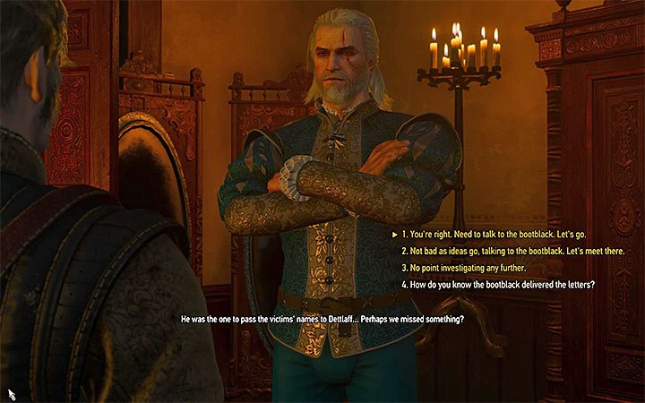 You can immediately go meet with the bootblack, do it later or completely ignore it - Pomp and Strange Circumstance - Main quests - The Witcher 3: Blood and Wine Game Guide