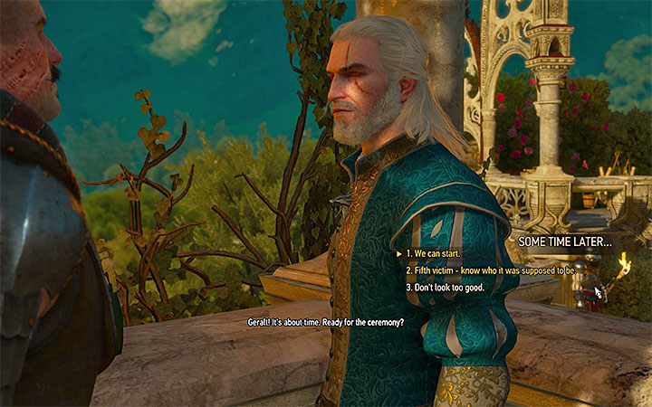 If you know about the fifth planned victim, you can share the knowledge with Damien - Pomp and Strange Circumstance - Main quests - The Witcher 3: Blood and Wine Game Guide