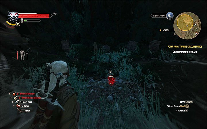 Example mandrake root - Pomp and Strange Circumstance - Main quests - The Witcher 3: Blood and Wine Game Guide