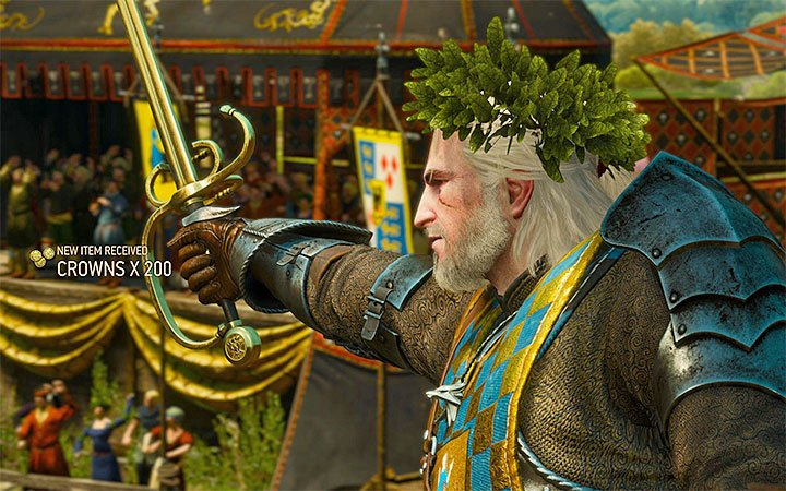 As a reward for winning the tourney Geralt will receive gold and a unique sword - New achievements and trophies introduced in Blood and Wine - New Additions in Blood and Wine - The Witcher 3: Blood and Wine Game Guide