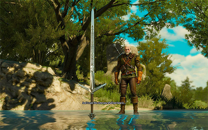 The moment at which you obtain the sword - New achievements and trophies introduced in Blood and Wine - New Additions in Blood and Wine - The Witcher 3: Blood and Wine Game Guide