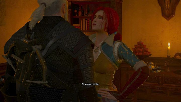 One of the available epilogues - Geralt is visited by Triss - Important information about endings - Game endings - The Witcher 3: Blood and Wine Game Guide