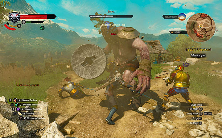 Run toward the monster after its unsuccessful attack and perform few fast attacks of your own - Main quests bosses in The Witcher 3: Blood and Wine - All Boss Fights - The Witcher 3: Blood and Wine Game Guide