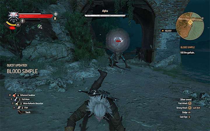 Jump away from the garkain when it will prepare to create a shockwave - Main quests bosses in The Witcher 3: Blood and Wine - All Boss Fights - The Witcher 3: Blood and Wine Game Guide