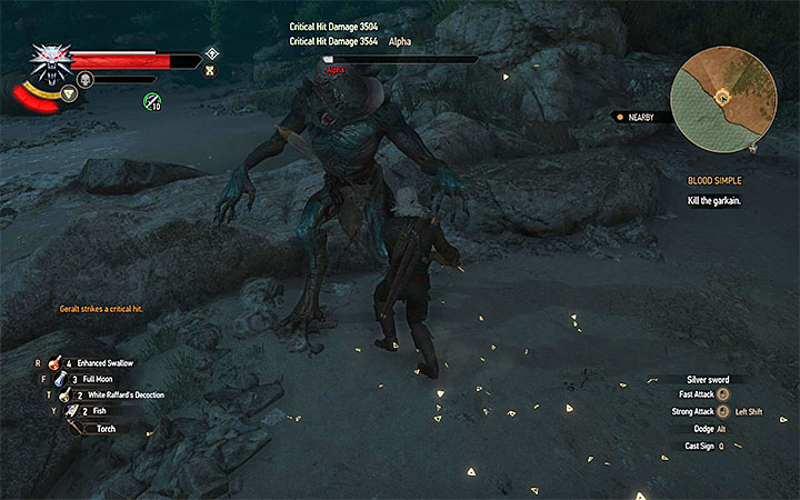 Attack the boss after each unsuccessful jump - Main quests bosses in The Witcher 3: Blood and Wine - All Boss Fights - The Witcher 3: Blood and Wine Game Guide