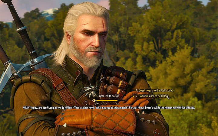 You can resign on killing the basilisk and ask the reavers for the same - There Can Be Only One - Five Trials of Virtue - Side quests - The Witcher 3: Blood and Wine Game Guide