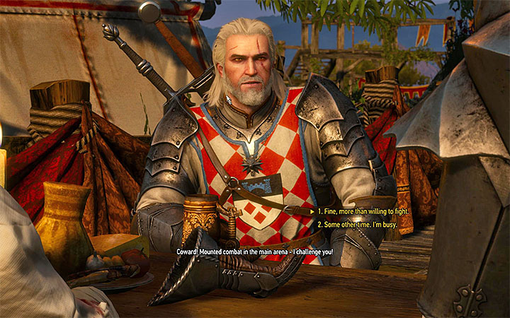 Agree to a mounted fight with Anseis - There Can Be Only One - Five Trials of Virtue - Side quests - The Witcher 3: Blood and Wine Game Guide