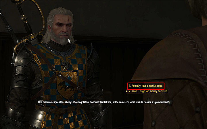 Tell Charles the truth about what happened at the cemetery - There Can Be Only One - Five Trials of Virtue - Side quests - The Witcher 3: Blood and Wine Game Guide