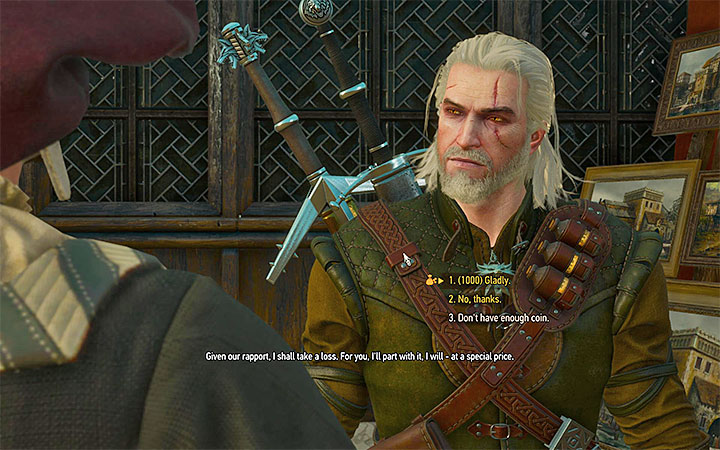 Buy Geralts portrait from the merchant - There Can Be Only One - Five Trials of Virtue - Side quests - The Witcher 3: Blood and Wine Game Guide