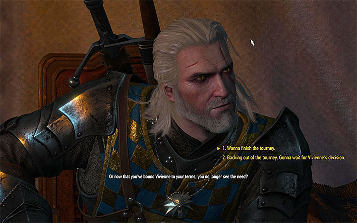 Say that you want to take part in the tournament and win - There Can Be Only One - Five Trials of Virtue - Side quests - The Witcher 3: Blood and Wine Game Guide