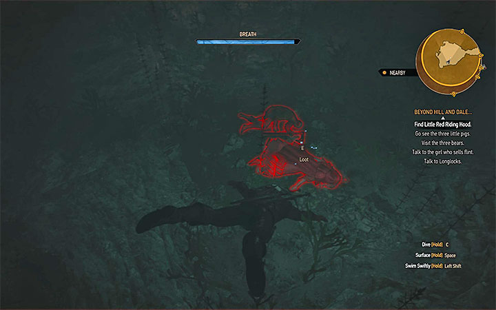 As Syanna suggests, walk towards the well located next to the house and jump inside - Beyond Hill and Dale... - quest about finding Syanna - Main quests - The Witcher 3: Blood and Wine Game Guide