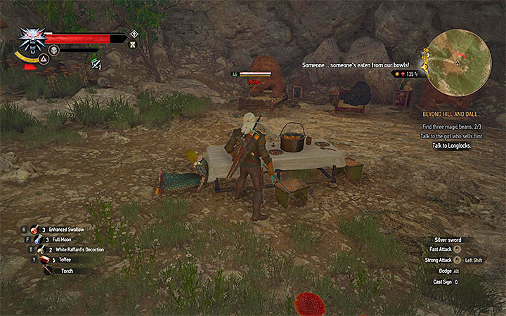 The bears will attack Geralt if he tries taking the food from the table - Beyond Hill and Dale... - quest about finding Syanna - Main quests - The Witcher 3: Blood and Wine Game Guide
