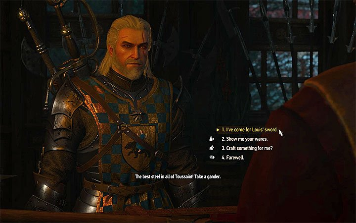 Meet with the blacksmith and take the sword - Till Death Do You Part - Side quests - The Witcher 3: Blood and Wine Game Guide